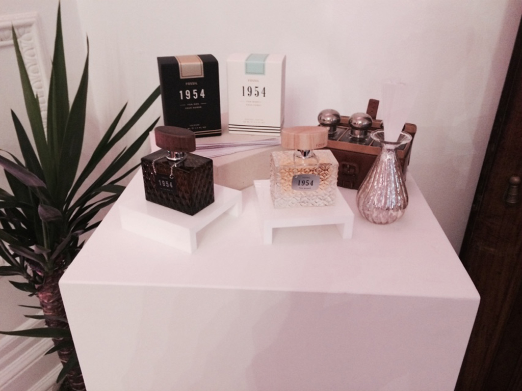 A selection of fossil fragrances